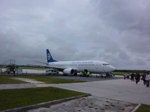 The twice-weekly flight to Auckland