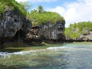 The Niue coastline