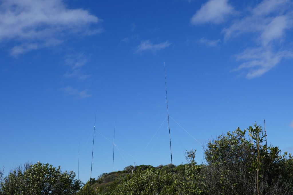The first antenas are up!