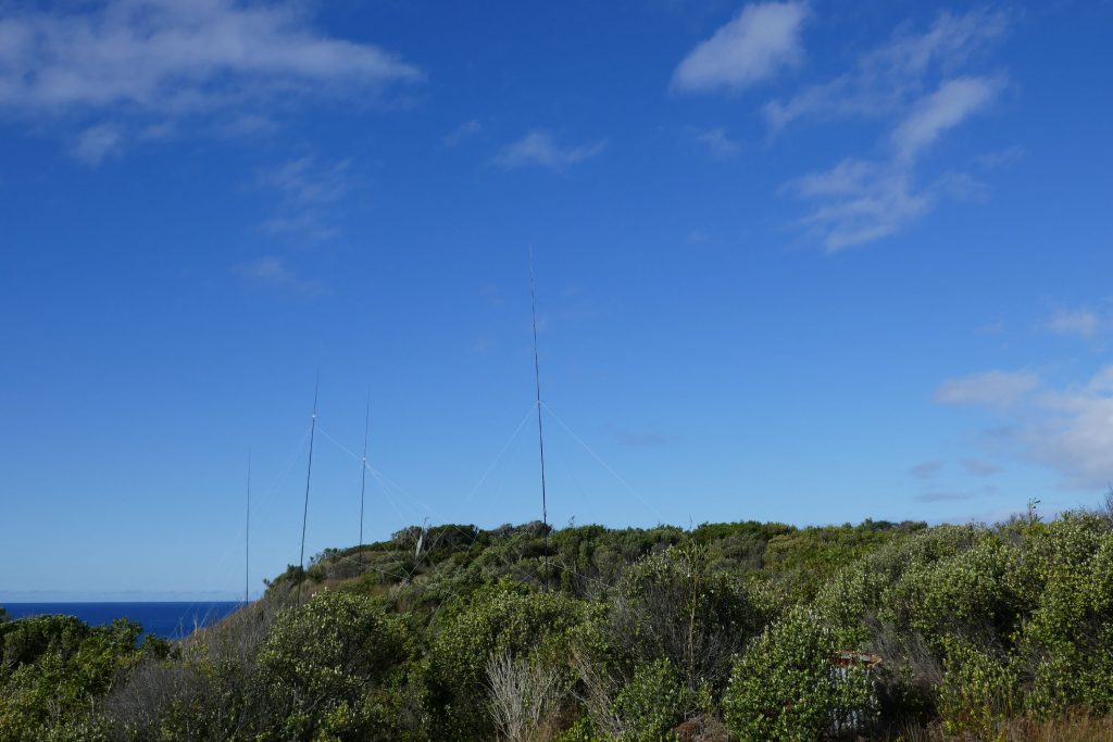 The first antennas on their hillock